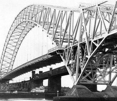 Widnes Runcorn bridge taken from Victoria Gardens.
