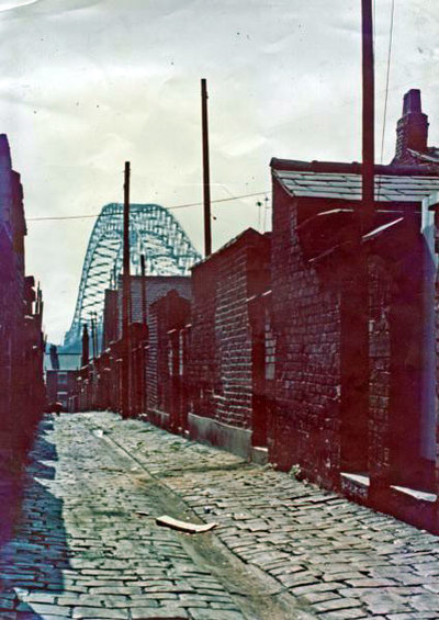 West Bank, view of back entries in Mersey Road