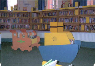 Widnes Library, childrens area
