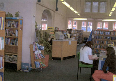 Widnes Library, showing main counter.