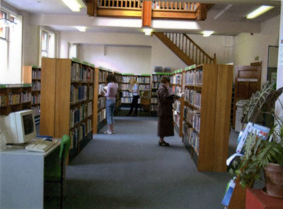 Widnes Library, showing non fiction area.