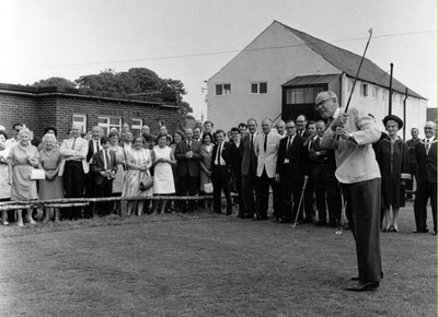 T Swale, President of Widnes Golf Club, 1974.