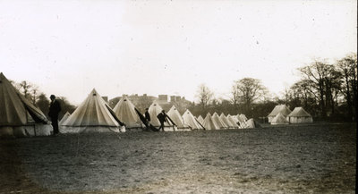 The Camp at Heaton Park. Tents borrowed from Salford Lads Club.