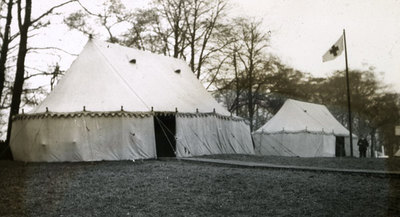 Marquees, possibly from Salford Lads Club, at Heaton Park