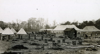 View of camp at Heaton Park