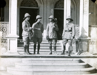 Four officers in Service Dress