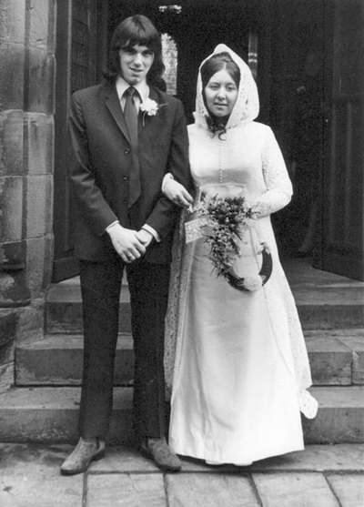 Wedding of Patricia Marchington, niece of Nellie Marchington, and Alan Harrison.