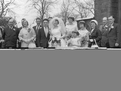Wedding of Gladys Potts and Roy Hinchcliffe