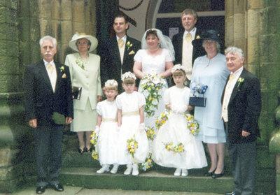 Wedding of Beverley Hinchcliffe and Alan Wildgoose.
