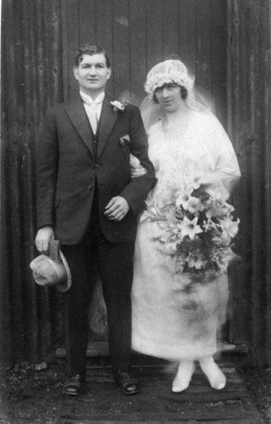 Wedding of Edward Bottomley and Mary Alice Unwin.