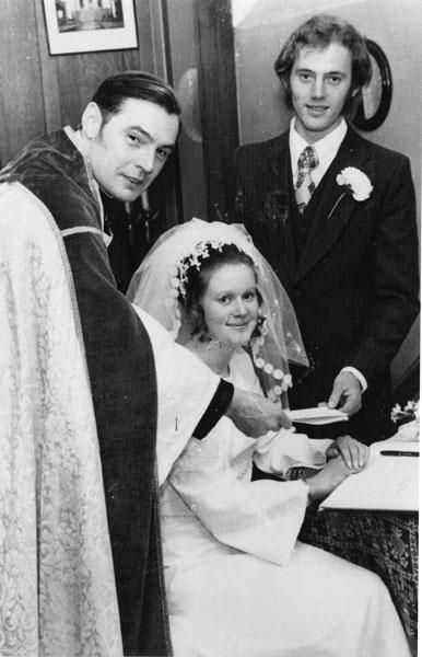 Wedding of Susan Lee, sister of Carol, and John Percival.