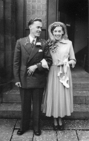Wedding of Margaret Gould, sister of Wilf, and Ken Seery.