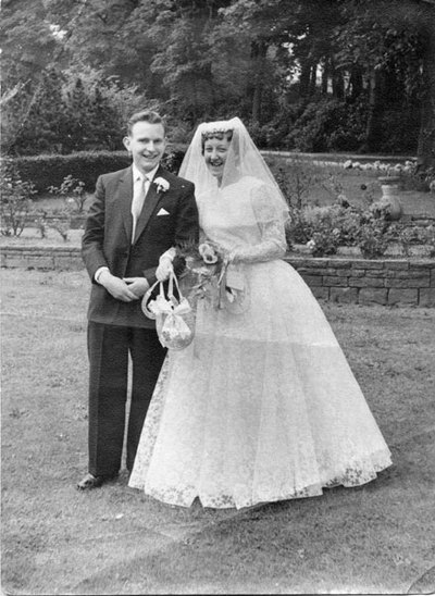 Wedding of Maureen Kettle and Michael Taylor, parents of Adele and Karen Taylor.