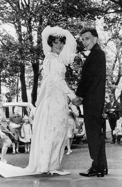 Wedding of Pamela Barton, daughter of Bella and Harry, and John Pattison.