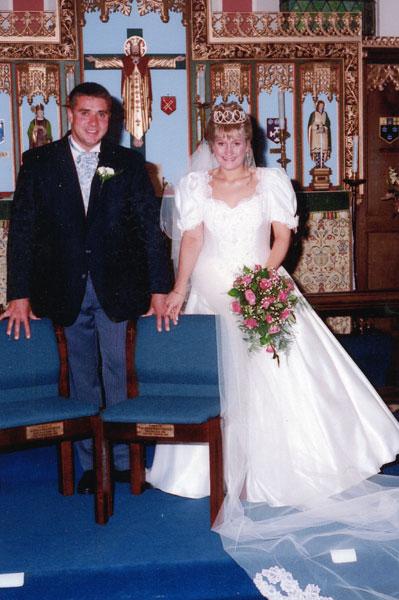Wedding of Debbie Pattison and John Hall