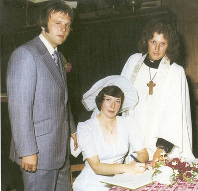 Wedding of Christine Webster and Colin Smith at St George's Church. Service conducted by Rev Neil Smith.