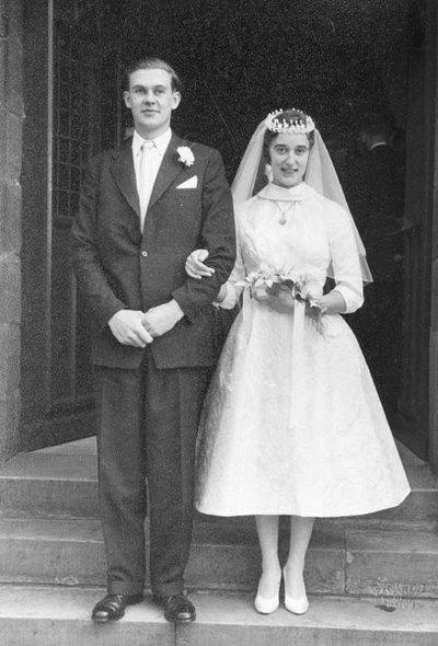 Wedding of Thomas Brian (Bobby) Lawton and Norma Yates.