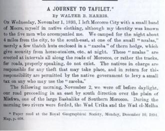 A journey to Tafilalet