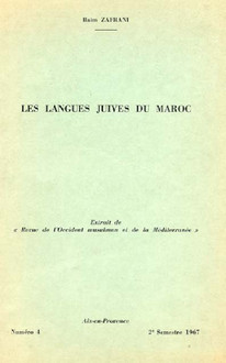 Les langues juives au Maroc.
