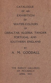 Catalogue of an exhibition of water-colours