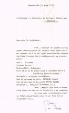 Lettre adressée le 16/03/1958 au Président du Tribunal Rabbinique de Mogador