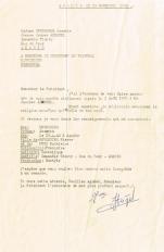 Lettre adressée le 13/11/1958 au Président du Tribunal Rabbinique de Essaouira