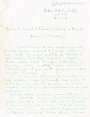 Lettre adressée le 12/12/1958 au Président du Tribunal Rabbinique de Mogador