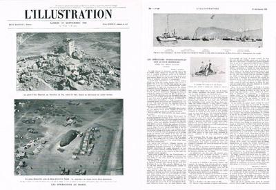 Les opérations franco-espagnoles sur la côte marocaine