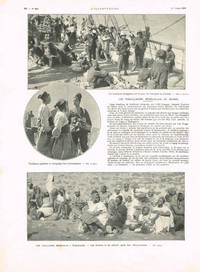 Les tirailleurs sénégalais au Maroc