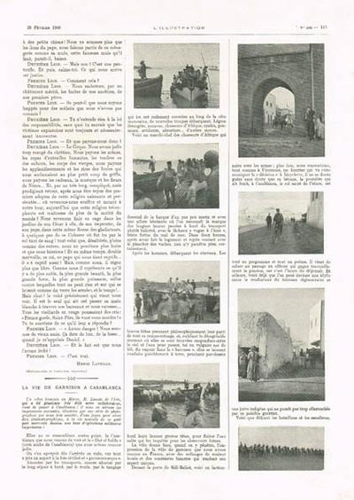 La vie de garnison à Casablanca
