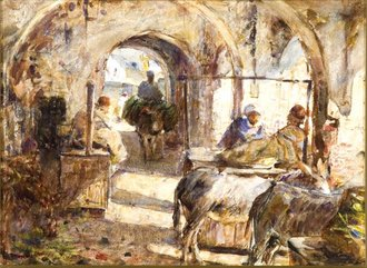 `The Jew's meat market, Tangier`