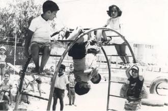 Enfants d'émigrants dans un Kibboutz