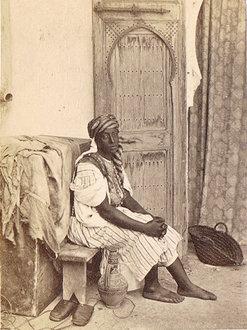 Esclave noire travaillant comme domestique