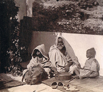 Mendiant et ses enfants