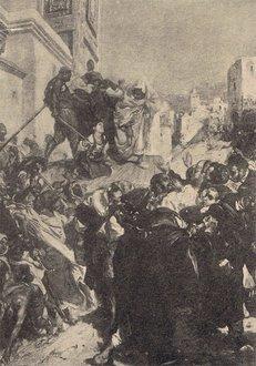 L\'exécution de la Juive: tableau de Alfred Dehodenk