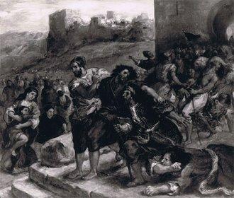Les convulsionnaires de Tanger: Tableau de Delacroix