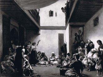 La noce juive: tableau de Delacroix