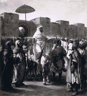 Le Sultan du Maroc: tableau de Delacroix