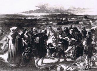 Comédiens arabes: tableau de Delacroix
