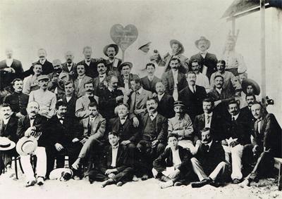 Banquet des Lyonnais ayant lieu chez `Plantier` à la plage de Casablanca en Juillet 1912