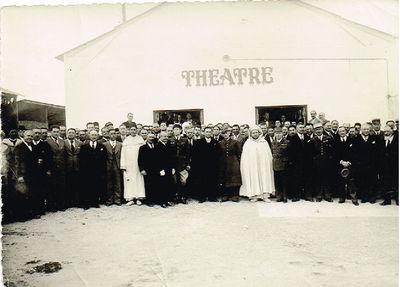 Inauguration du Théâtre par le Pacha de Fès en 1938