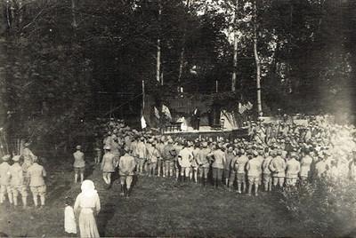 Le théâtre aux armées - Séance offerte à Rouffy le 3 juillet 1916 (division Riberpray)