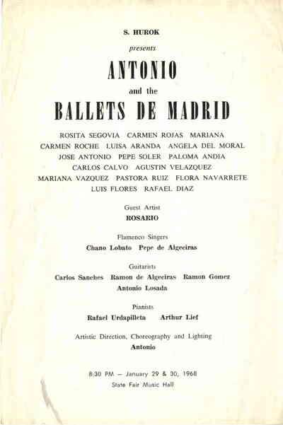 Antonio and the Ballets de Madrid