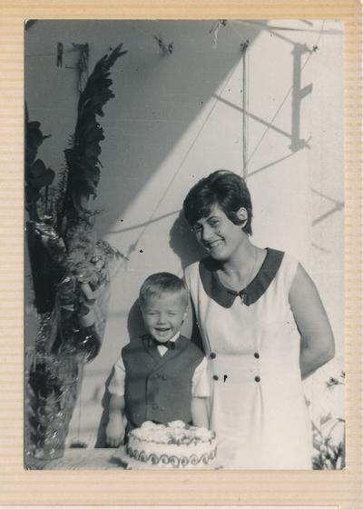 Matilda Novak in nečak Grahonja Pavel