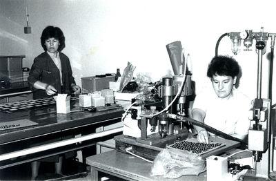 Delo v Ščetinarni okrog leta 1985