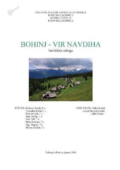 Bohinj - vir navdiha - turistična naloga