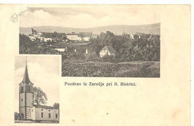 Pozdrav iz Zarečja pri Il. Bistrici, okrog 1910 leta
