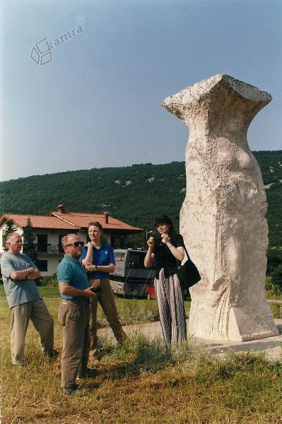 Hrastovlje- kip Šavrinke