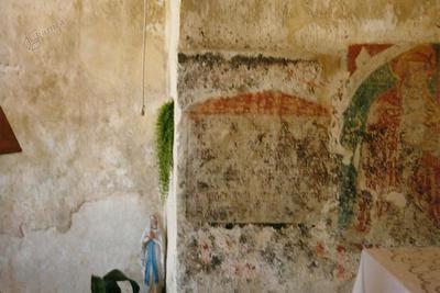 Cerkev Sv. Roka in Sebastjana v Borštu, freske