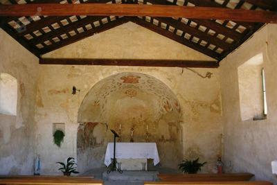Cerkev Sv. Roka in Sebastjana v Borštu, notranjost